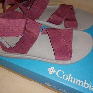 Columbia Sandals - fuschia in size 8